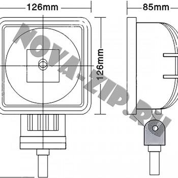светодиодные-фары-люстры-линейки-SF-130-(HML-0330-угол-свечения-160-градусов)-размеры-и-схема-подключения