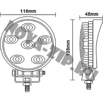 светодиодные-фары-люстры-линейки-SFKR-618-(HML-0118-угол-свечения-30-60-градусов)-размеры-и-схема-подключения