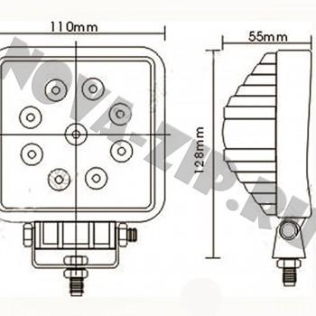 светодиодные-фары-SFKV-927-(HML-0627-угол-свечения-30-градусов)-размеры-и-схема-подключения