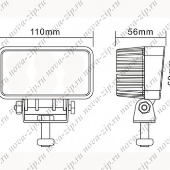 светодиодные-фары-SFM-39-(HML-1809-угол-свечения-90-градусов)-размеры-и-схема-подключения