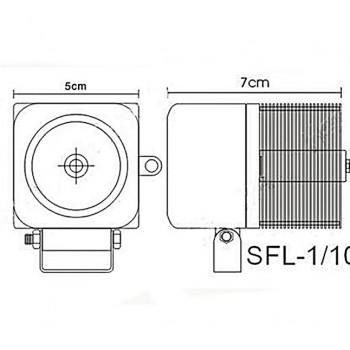 светодиодные-фары-SFL-110-(HML-0810-угол-свечения-8-40-градусов)-размеры-и-схема-подключения