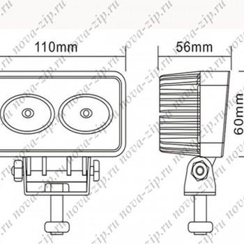 светодиодные-фары-SFM-220-(HML-0920-угол-свечения-90-градусов)-размеры-и-схема-подключения
