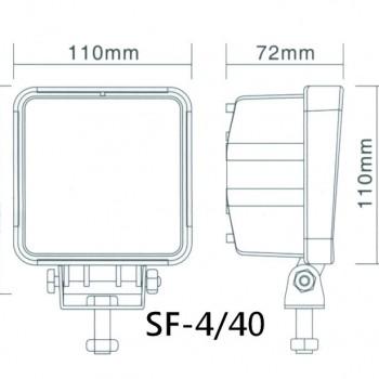 схема светодиодная фара led sf4-40