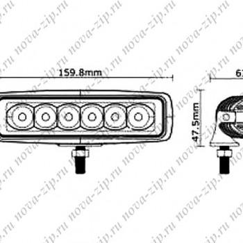 светодиодные-фары-люстры-линейки-sfl-6-18-схема-подключения-и-размеры